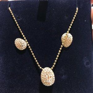 Swarovski earring and necklace set